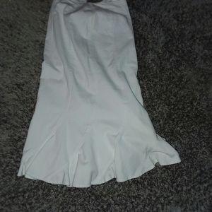 Newport News Long White Ruffle Skirt